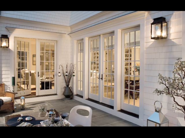 Double French Patio Doors With Sidelights Exterior A Comfortable
