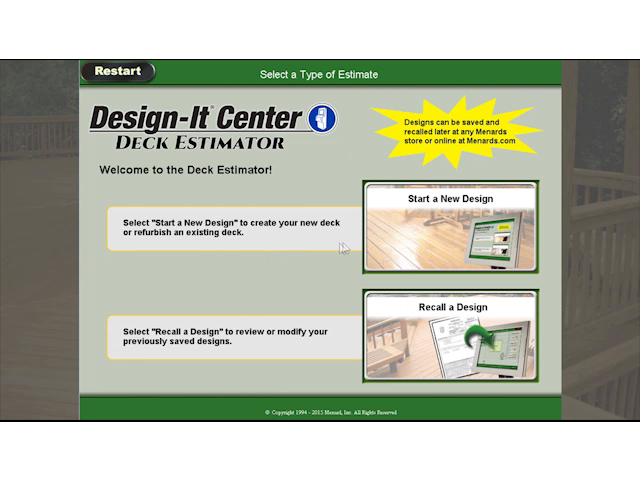deck estimator at menards® - Menards Patio Design
