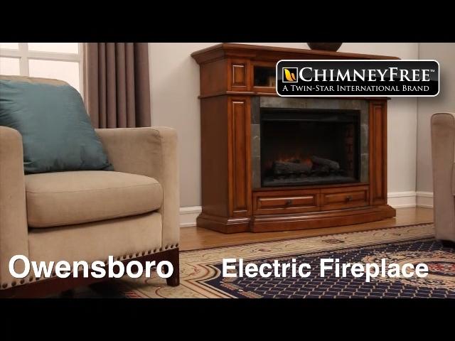 ChimneyFree 58 Owensboro Electric Fireplace Entertainment Center
