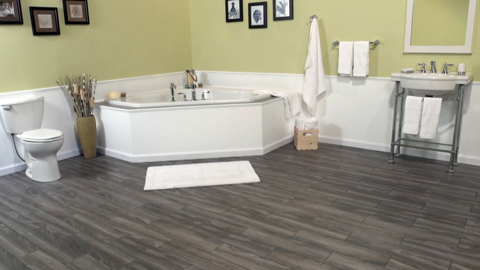 SnapStone® 12 x 12 Interlocking Porcelain Floor Tile at Menards®