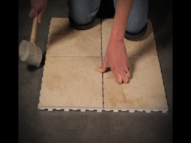 SnapStone X Interlocking Porcelain Floor Tile At Menards - Porcelain click and lock floor tile