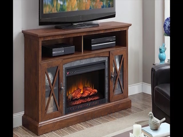 Whalen 60 Sheldon Electric Fireplace Entertainment Center At Menards