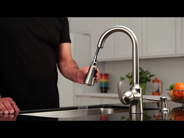 Moen® Nori One Handle Pull Down Kitchen Faucet With Reflex® At Menards®