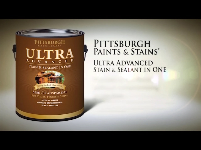 Pittsburgh Paints Stains Ultra Advanced Semi Transpa Naturaltone Cedar Wood Stain Sealant 1 Gal At Menards