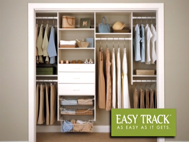 Easy Track 4 To 8 White Deluxe Starter Closet Kit At Menards