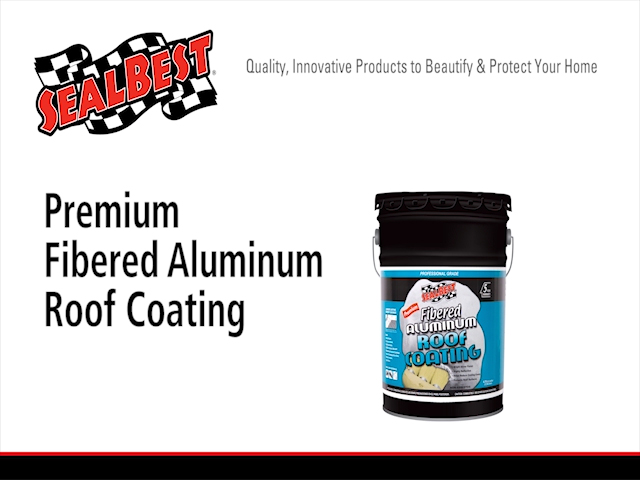 SealBest Professional Grade Fibered Aluminum Roof Coating   4.75 Gal. At  Menards®