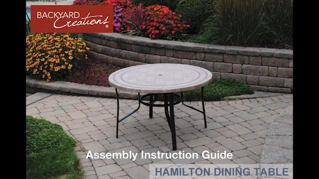 - Backyard Creations® Hamilton Round Dining Patio Table At Menards®