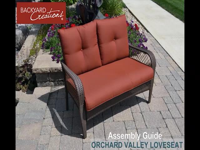 Backyard Creations® Orchard Valley 4 Piece Deep Seating Patio Set At  Menards®