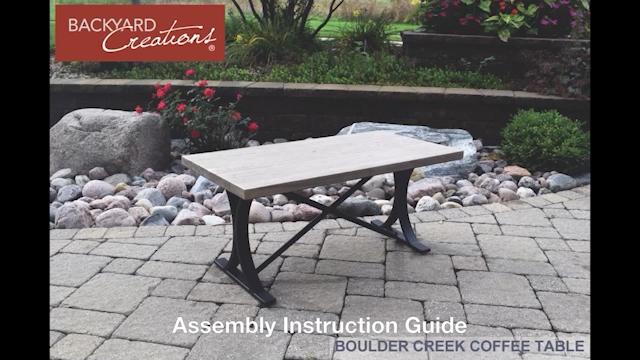 Backyard Creations® Boulder Creek Rectangular Coffee Patio Table at Menards® - Backyard Creations® Boulder Creek Rectangular Coffee Patio Table At